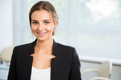 Portrait of cute young business woman Royalty Free Stock Images