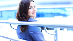 Portrait of cute young business woman Stock Images