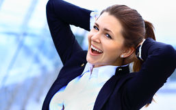 Portrait of cute young business woman Royalty Free Stock Photo