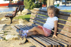 Portrait of cute young girl Royalty Free Stock Photos