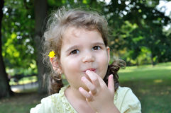 Portrait of a cute young girl Stock Photo