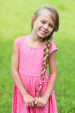 Portrait of a cute young girl royalty free stock photo