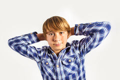 Portrait of  cute young happy boy Royalty Free Stock Photos