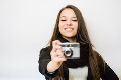 Young photographer. Stock Image