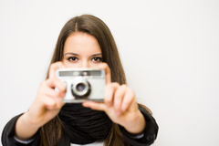 Young photographer. Royalty Free Stock Images