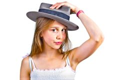 Portrait of cute young teenage girl Royalty Free Stock Images