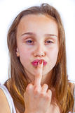 Portrait of cute young teenage girl Royalty Free Stock Photography