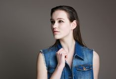 Portrait of a cute young woman Royalty Free Stock Photography