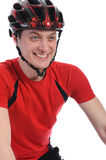 Portrait of a cyclist Stock Photos