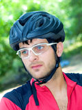 Portrait of cyclist Stock Image