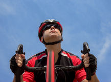 Portrait of cyclist Stock Images
