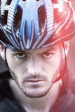 Portrait cyclist Stock Image