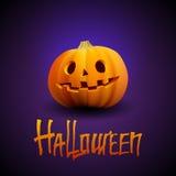 Portrait découpé par potiron de Halloween avec le visage fantasmagorique illustration stock