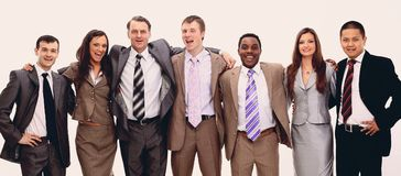Portrait d'équipe réussie d'affaires Photos stock