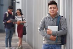 Portrait d'étudiant asiatique bel Photo libre de droits