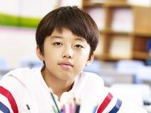 Portrait d'étudiant asiatique d'école primaire Images libres de droits