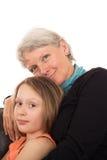 Portrait d'aîné et d'enfant Image stock