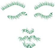 Portrait d'abrégé sur visage d'herbe Photos libres de droits