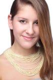 Portrait d'adolescent avec des perles photos stock