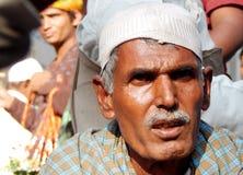 Portrait d'aide de recherche indienne/de prier d'homme supérieur Photos libres de droits