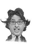 Portrait d'Andrea Trinchieri Caricature Photo libre de droits