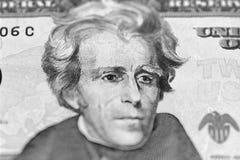 Portrait d'Andrew Jackson de nous 20 dollars Photos libres de droits