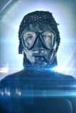 Portrait d'Android après apocalypse image stock