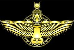 Portrait d'animation de la déesse égyptienne antique illustration libre de droits