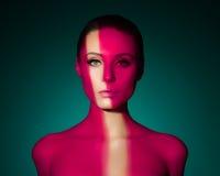 Portrait d'art de mode de jeune femme nue élégante Photo stock