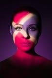 Portrait d'art de mode de jeune femme nue élégante Images libres de droits