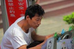 Portrait d'artiste de rue, peintre Images stock