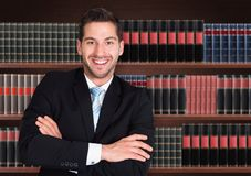Portrait d'avocat masculin heureux Photo stock