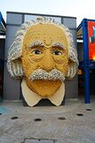Portrait d'Einstein dans Legoland photographie stock