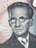 Portrait d'Erwin Schrodinger d'argent autrichien
