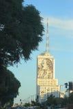Portrait d'Eva sur le bâtiment dans 9 de Julio, Buenos Image stock
