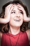 Portrait d'expression Photo stock
