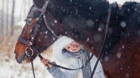 Portrait d'hiver Images stock