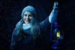 Portrait d'hiver d'imagination Photo libre de droits