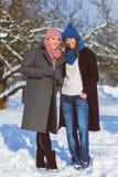 Portrait d'hiver des amies de femelle de mode Concept d'affection et d'amitié pour toujours Photographie stock libre de droits