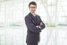 Portrait d'homme d'affaires au bureau images libres de droits