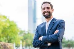Portrait d'homme d'affaires réussi photographie stock libre de droits