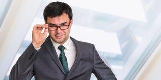 Portrait d'homme d'affaires réussi dans le costume formel Images libres de droits