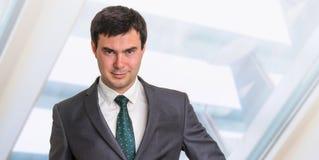 Portrait d'homme d'affaires réussi dans le costume formel Image libre de droits