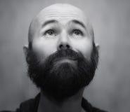 Portrait d'homme barbu calme image stock