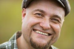 Portrait d'homme barbu de sourire heureux photos libres de droits