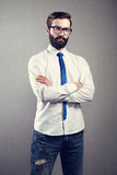 Portrait d'homme bel avec la barbe image libre de droits