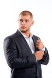 Portrait d'homme bel dans le costume élégant photographie stock libre de droits