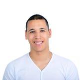 Portrait d'homme bel souriant sur le fond blanc Photo libre de droits
