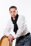 Portrait d'homme caucasien bel images stock