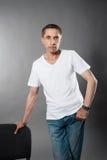 Portrait d'homme caucasien bel image libre de droits